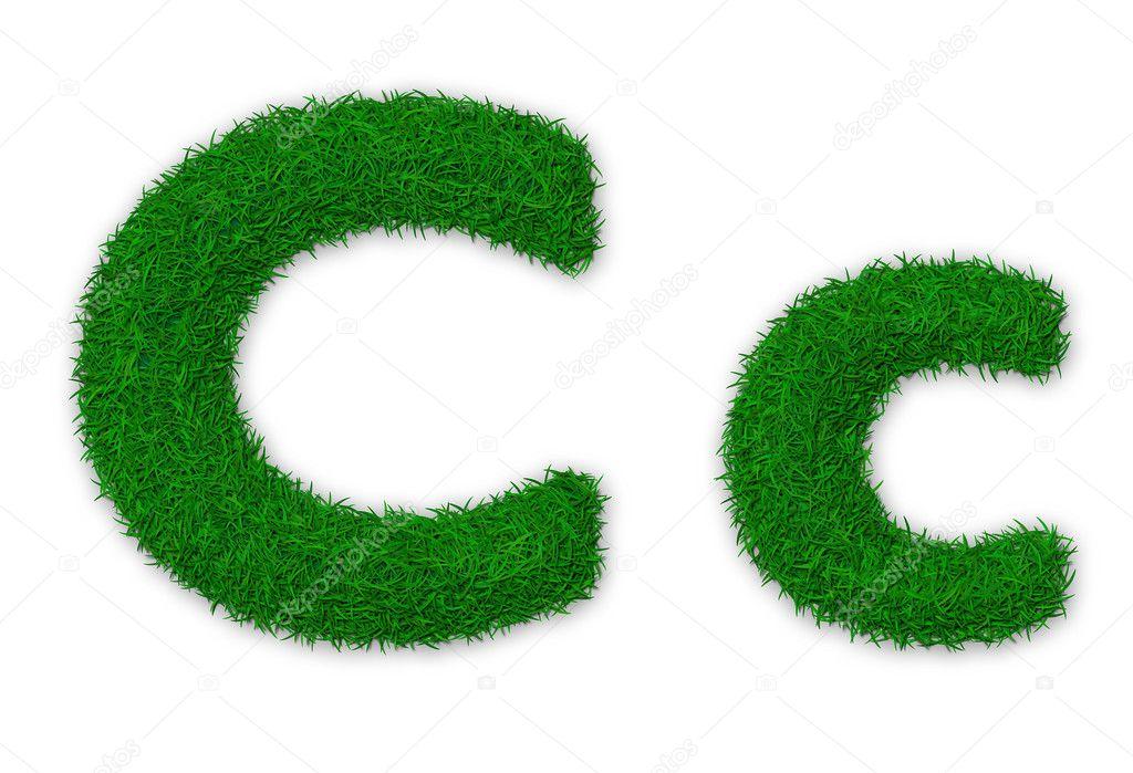 Grassy letter C