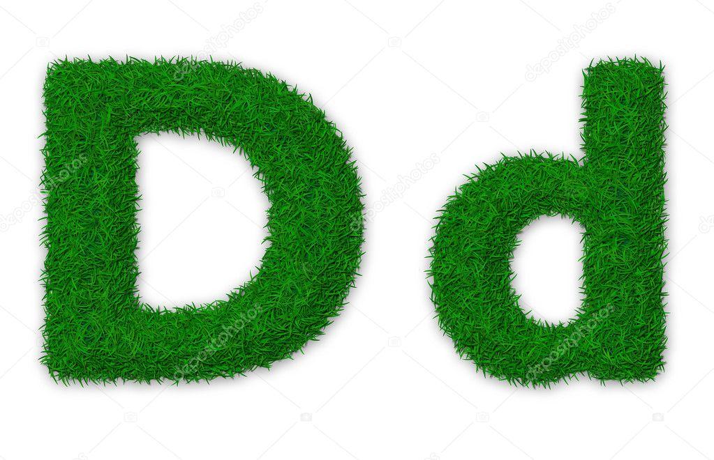 Grassy letter D