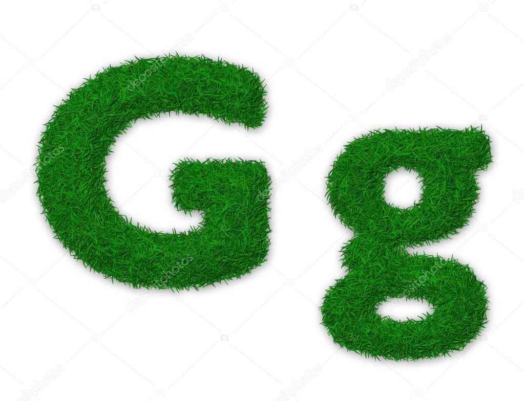 Grassy letter G