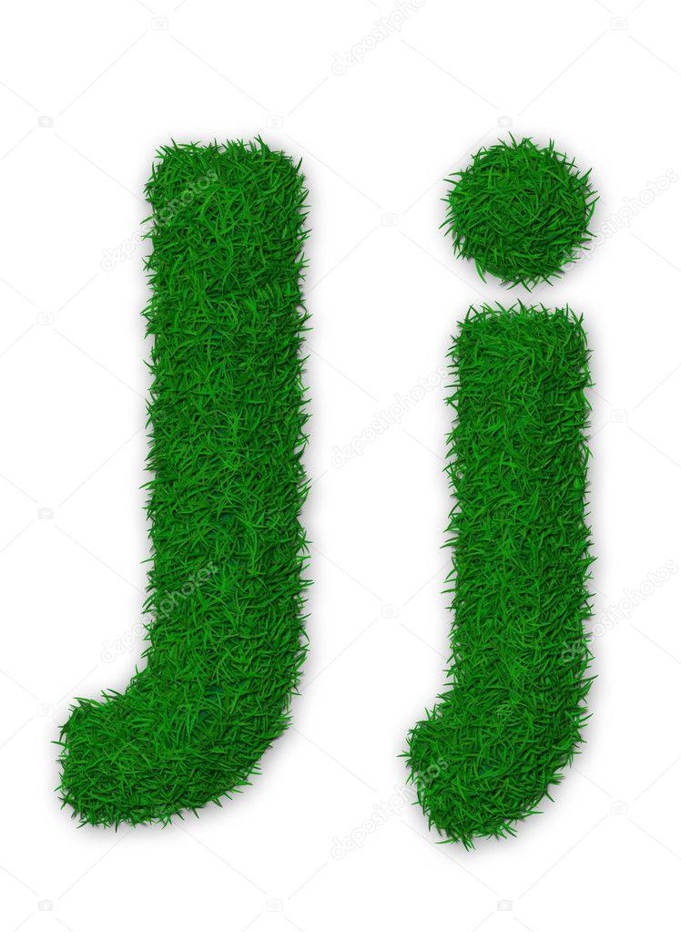 Grassy letter J
