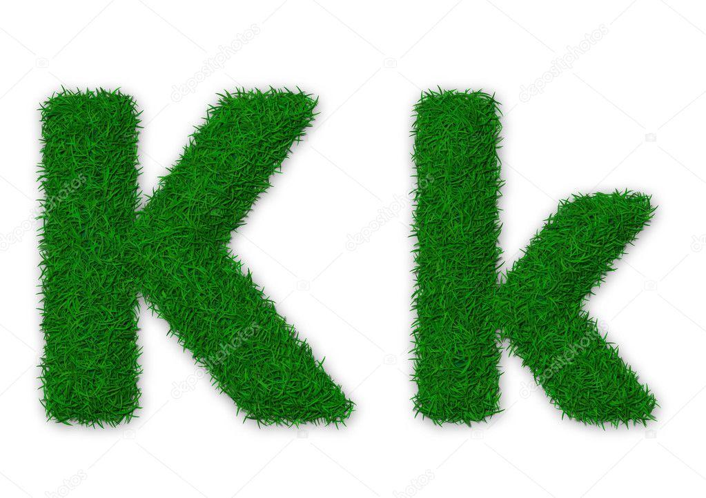 Grassy letter K
