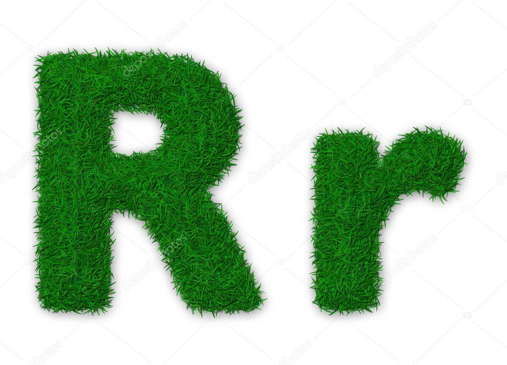 Grassy letter R
