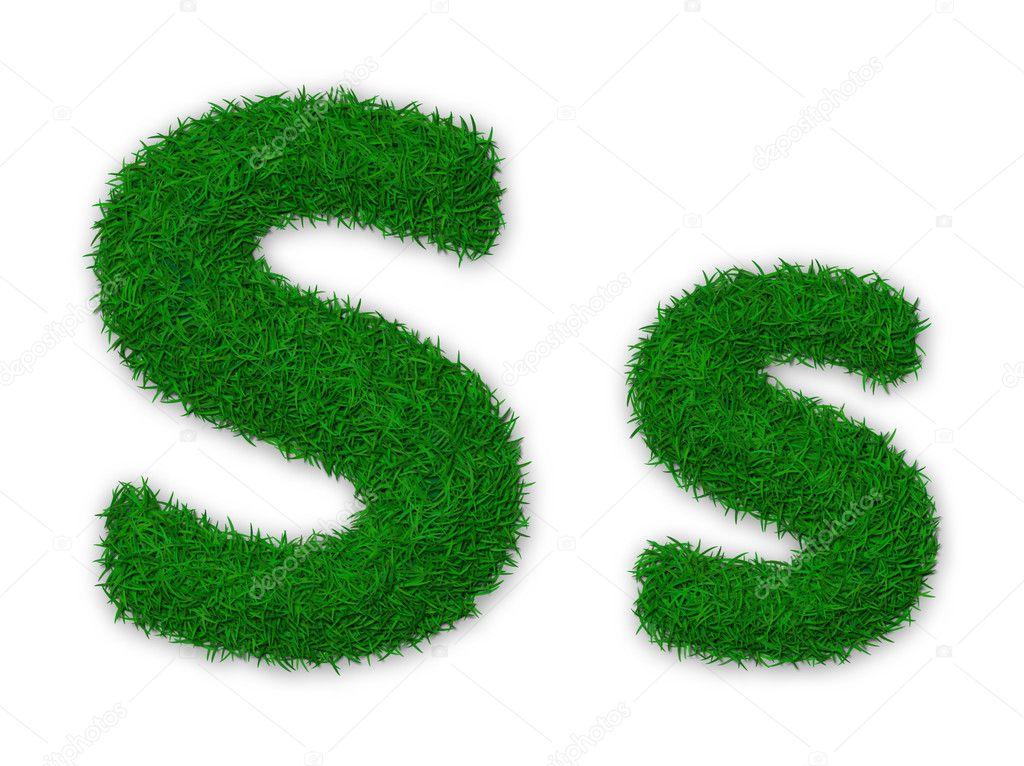 Grassy letter S