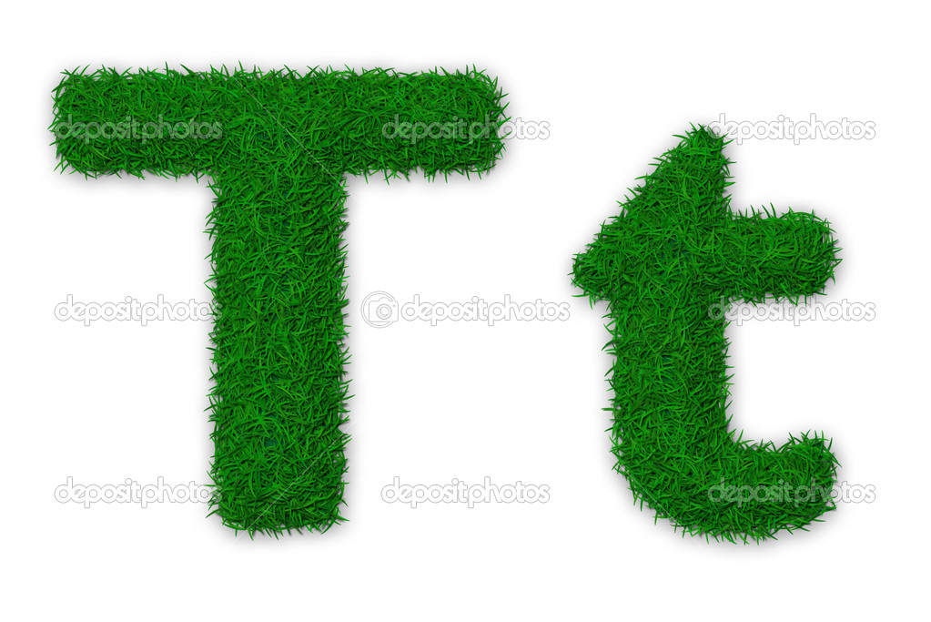 Grassy letter T