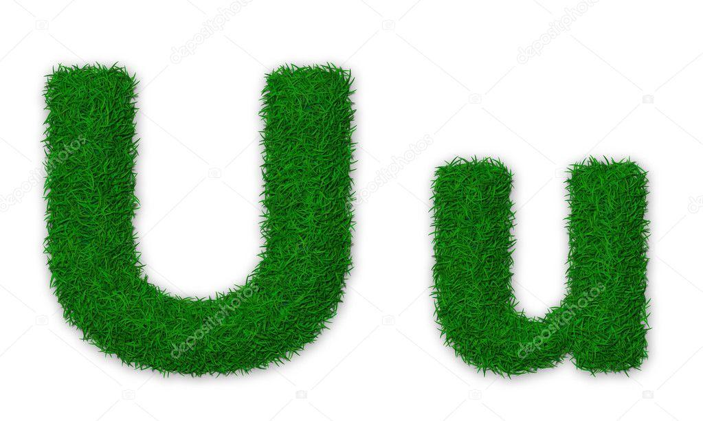 Grassy letter U
