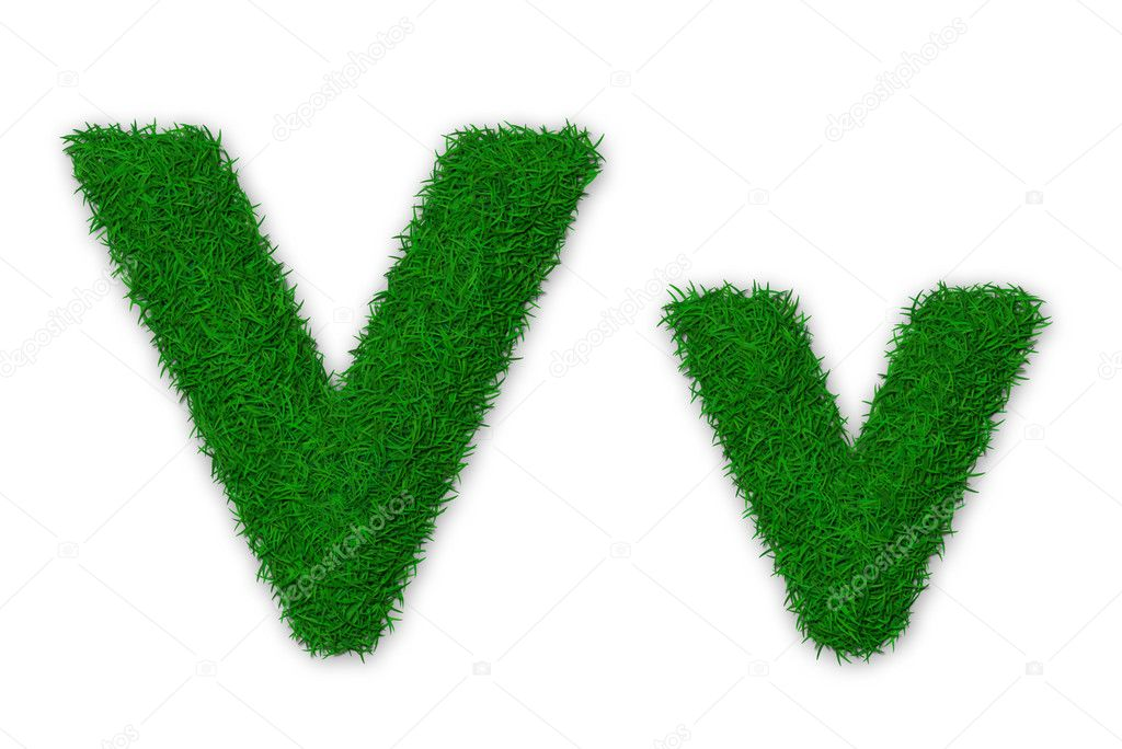 Grassy letter V