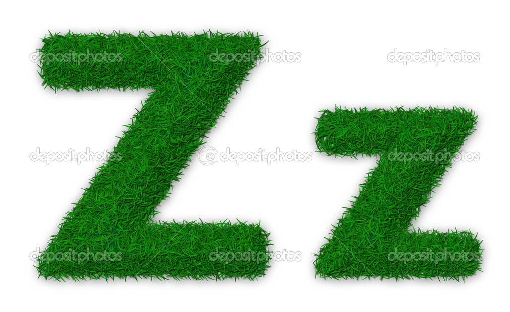 Grassy letter Z