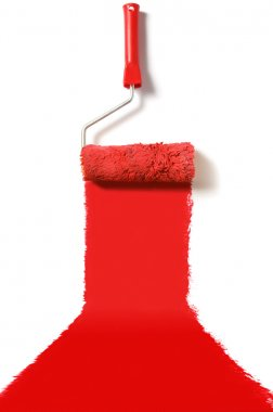 Red carpet paint roller