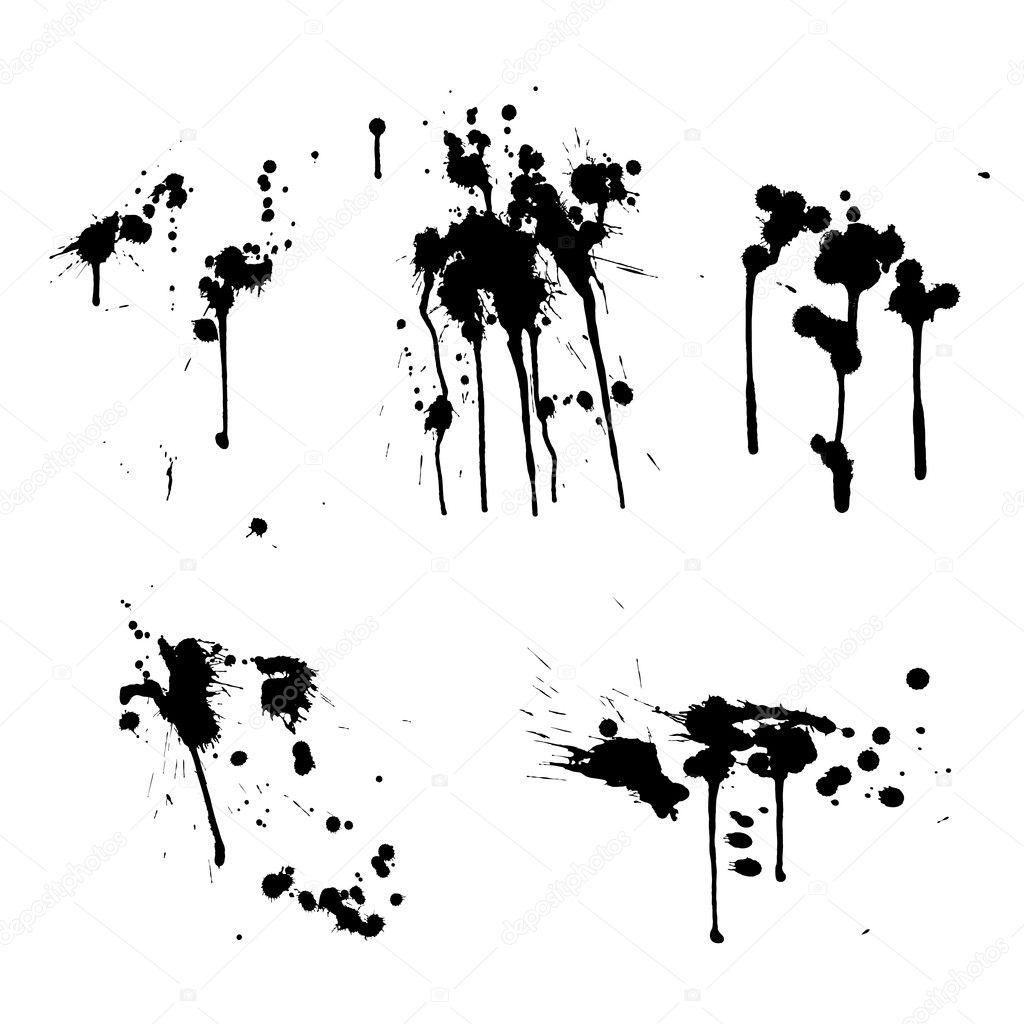 salpicaduras de tinta — Vector de stock © nrey ad  8839326 735664fd8e4d
