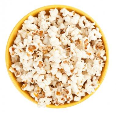 Bowl of popcorn. Top view