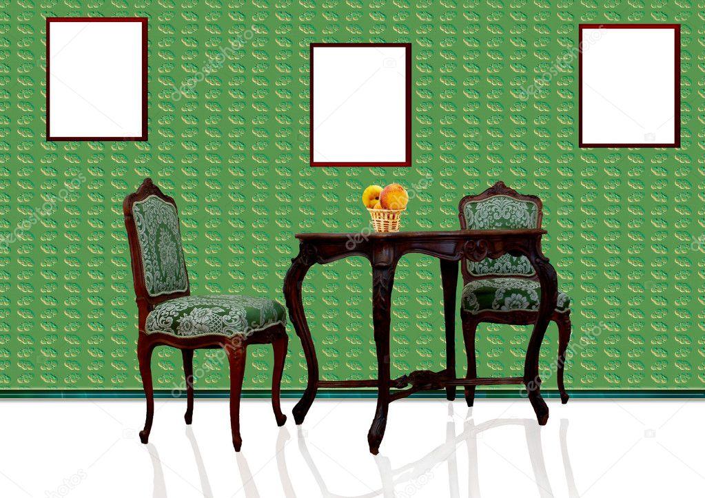 muebles antiguos en cocina moderna — Fotos de Stock © zhanna #9097146