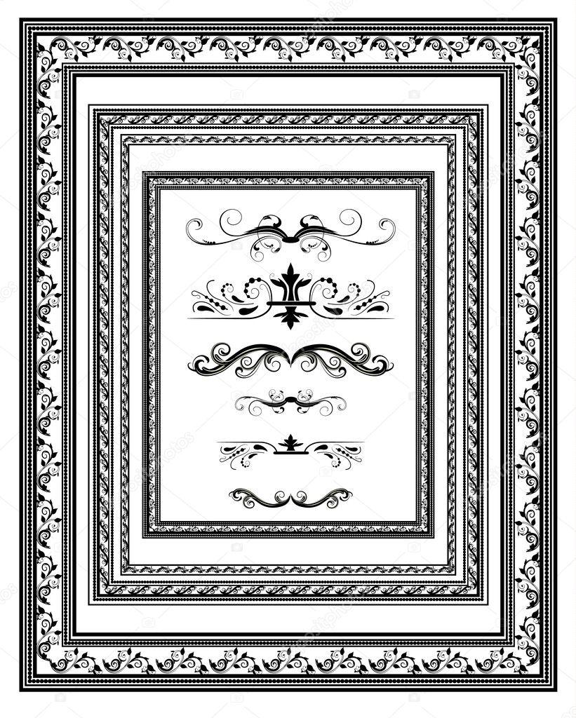 conjunto de vendimia marcos para diplomas — Vector de stock © Oksana ...