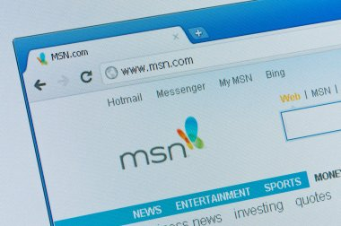 MSN start page.