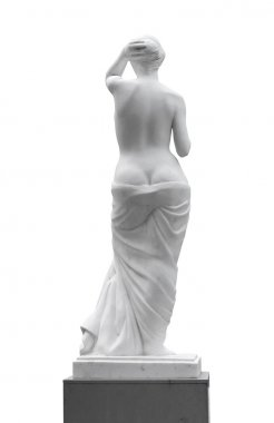 Statue of a woman look back.