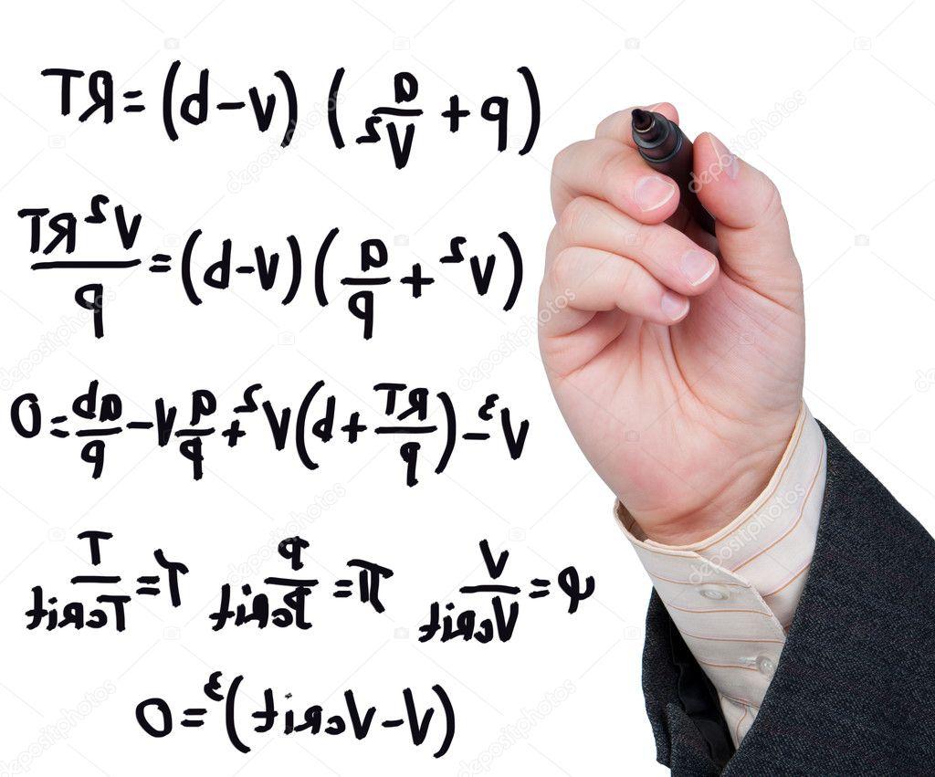 équations écrites Au Feutre Sur Verre Photographie Borysshevchuk