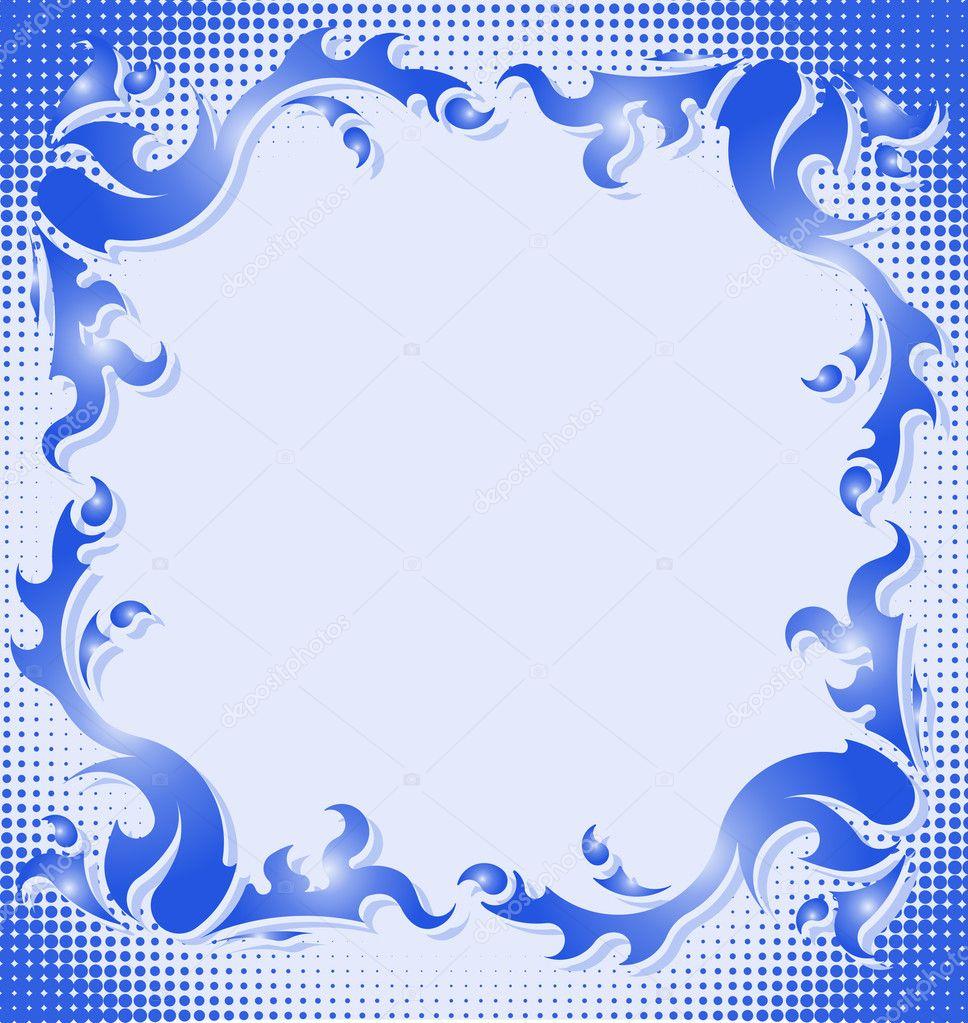 marco azul Vintage — Archivo Imágenes Vectoriales © antonshpak #8858274