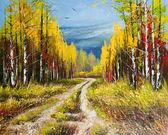 olejomalba - zlatý podzim