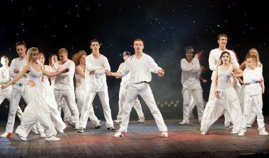 VITEBSK, BELARUS - JULY 1: Unidentified children from dancing gr