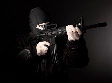 Terrorist with rifle