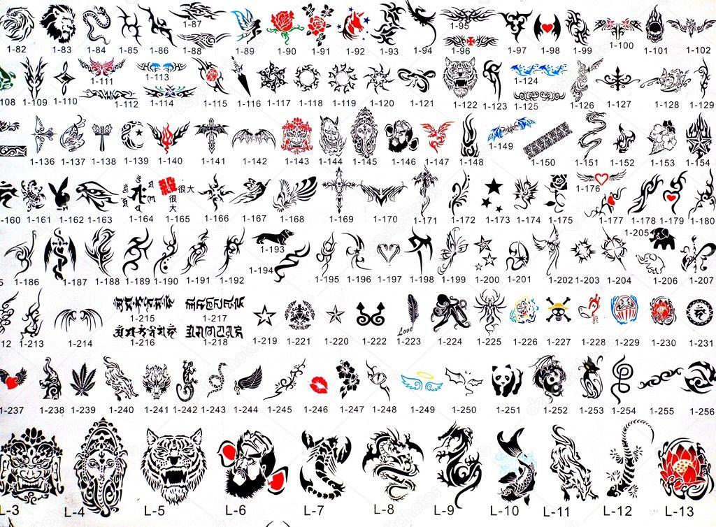 Katalog Tatuaż Wzory Zdjęcie Stockowe Editorial Shiyali