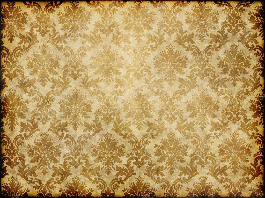 Vintage damask wallpaper stock photo clearviewstock 9271105 - Papier peint retro vintage ...