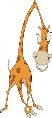 Cheerful giraffe. Cartoon