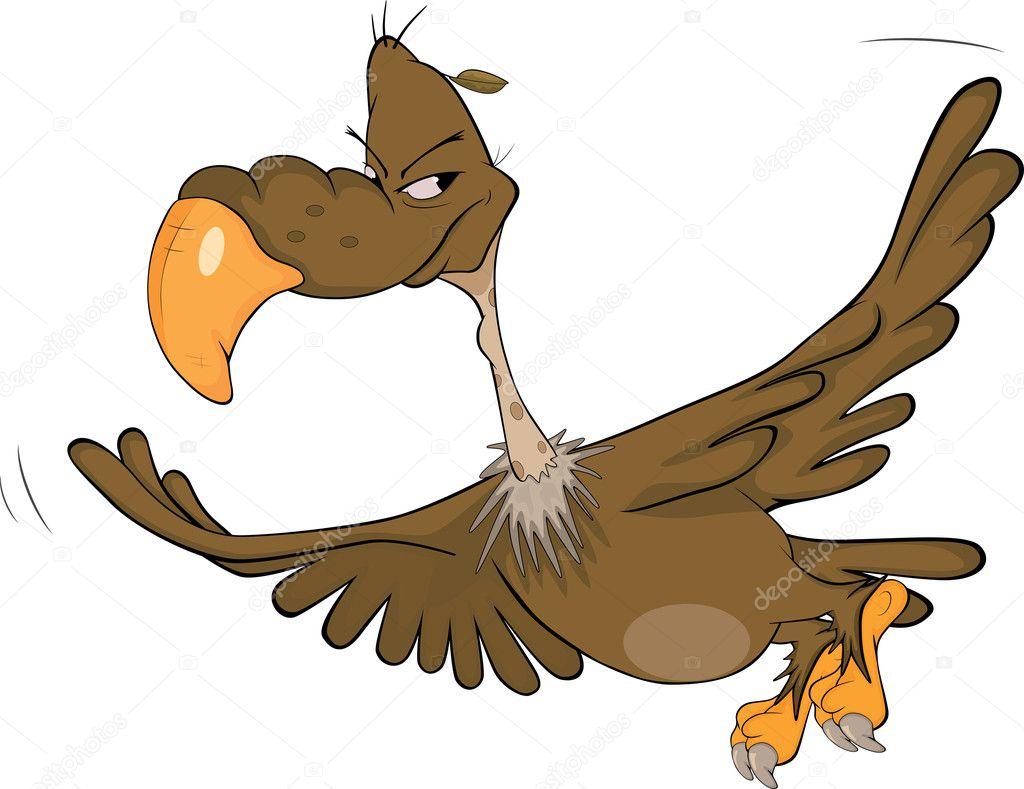 Condor americano cartone animato — vettoriali stock