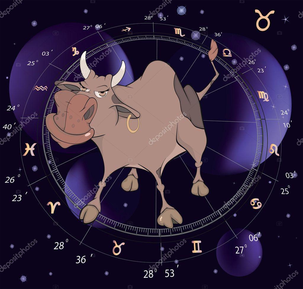 Segni zodiacali taurus cartone animato u vettoriali stock
