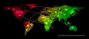 Illustration world map. Concept communication.