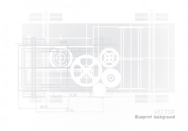 Technology blueprint abstract design