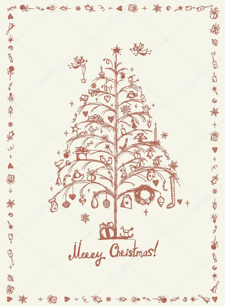 christmas card designs drawing christmas card sketch drawing for your design stock vector c kudryashka 8034225 christmas card designs drawing christmas card sketch drawing for your design stock vector c kudryashka 8034225