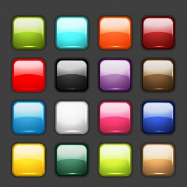 Set of glossy button icons for your design stock vector