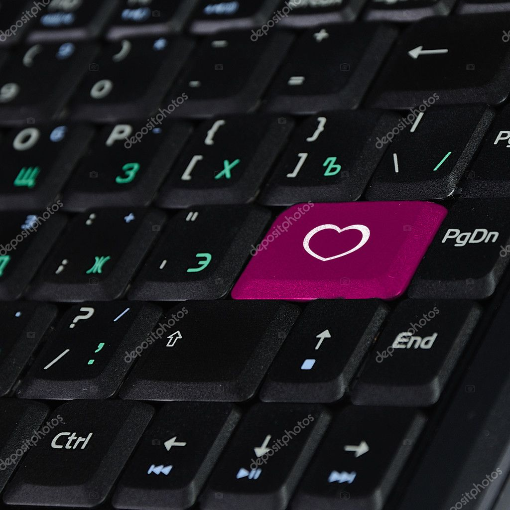 Heart symbol on computer image collections symbol and sign ideas computer keyboard and heart symbol stock photo sergeynivens computer keyboard with heart symbol on it photo buycottarizona Image collections