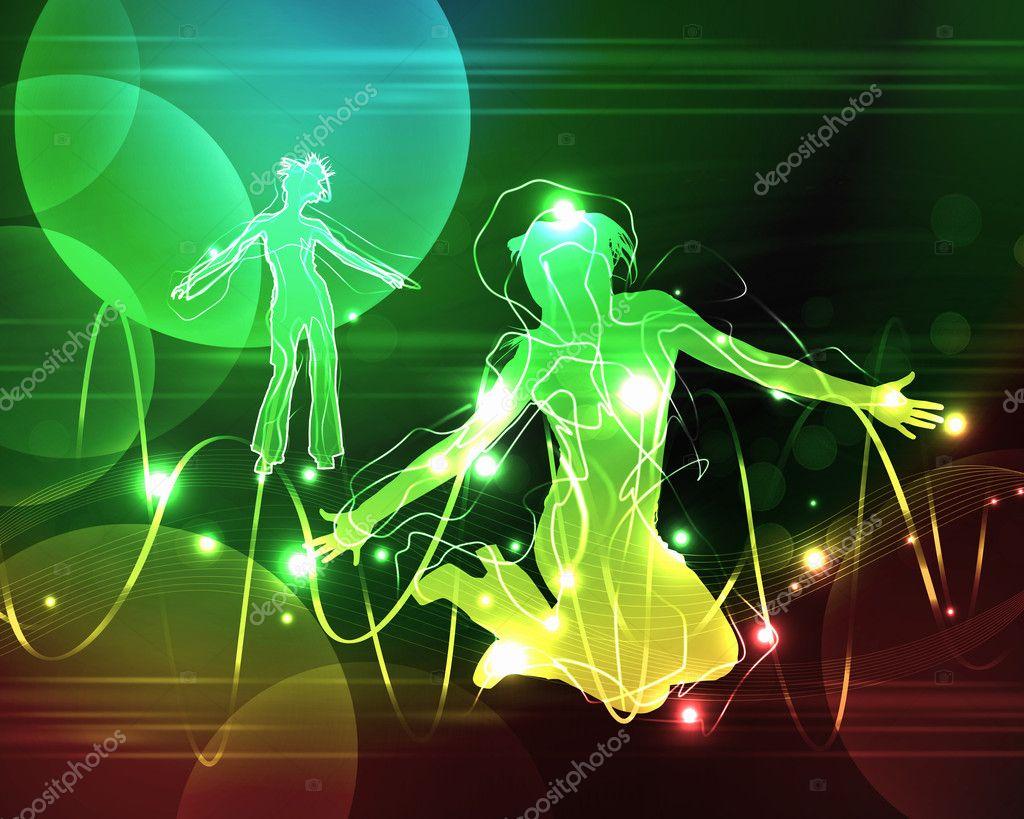 discoteca o noche bailarines del club — Fotos de Stock ...