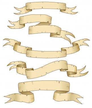 Set of vector parchments