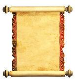 Fotografie 3D Schriftrolle altes Pergament