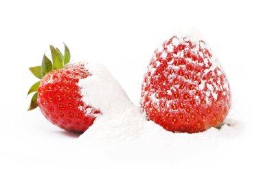 Strawberries and powdered sugar.