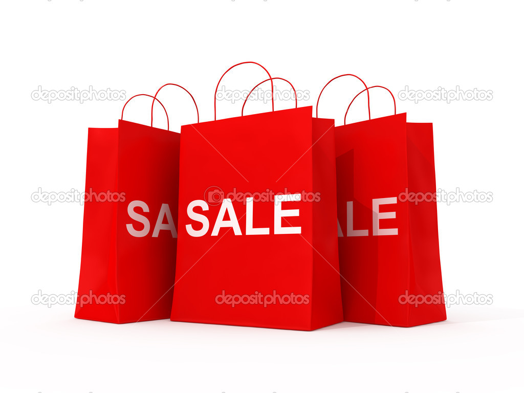 Blank shopping red bags for sale