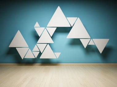 Abstract shape of triangles