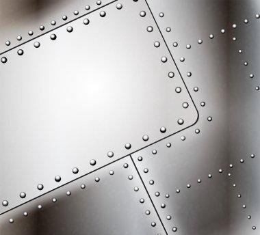 Vector riveted metal background stock vector