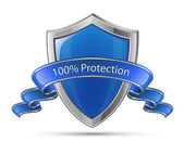Fotografie 100% Protection. Shield symbol