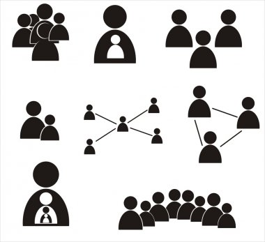 Set of human figures. Social concept