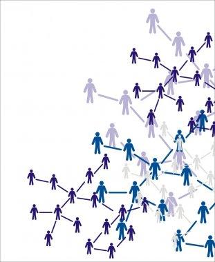 Human figures. Social concept