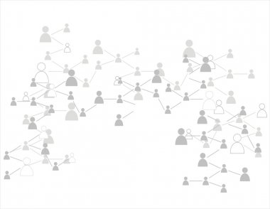 Human figures.Social relation concept