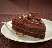Fényképek csokoládé torta szelet
