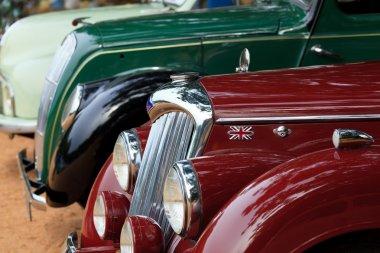CHENNAI - INDIA - JULY 24: Car grill of Riley (retro vintage car