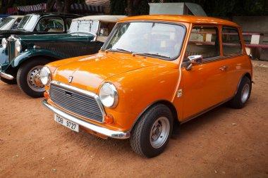 CHENNAI - INDIA - JULY 24: Cooper Mini (retro vintage car) on He