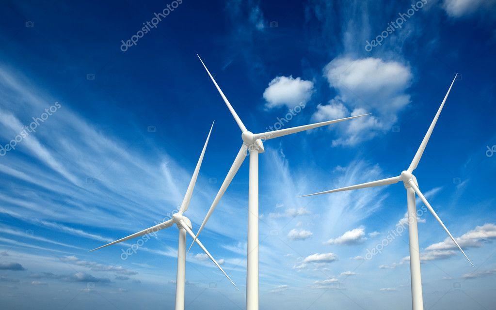 Wwind generator turbines in sky