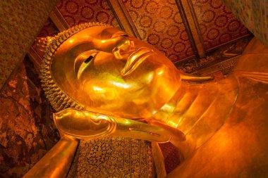 Reclining Buddha face