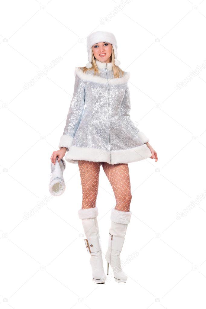 Сексуальная снегурочка сапоги